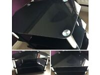 BLACK STAND TV .EXCELLENT CONDITION