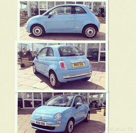 Fiat 500, Blue, 1.2 petrol.