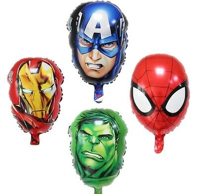 4PC Avengers Super Heroes Party Balloons Iron man Captain America SPIDERMAN Hulk