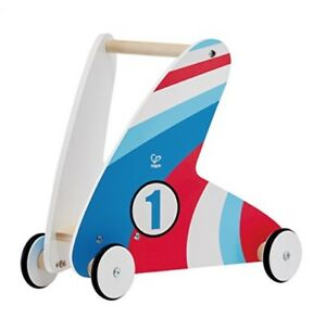 Hape Racing Stripes Wooden Push and Pull Wood Walker