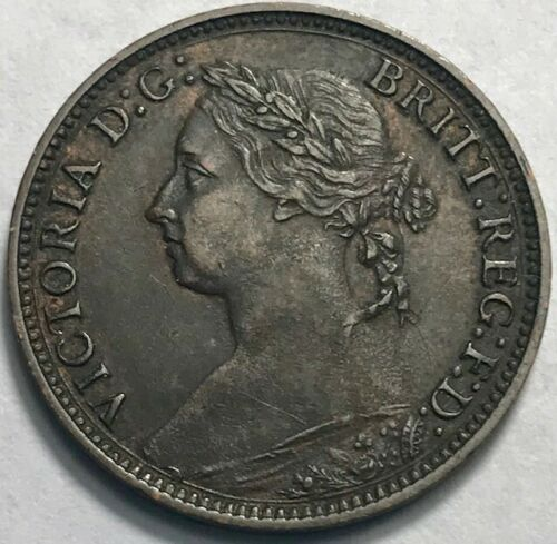 GREAT BRITAIN - Queen Victoria - Farthing 1881H - KM-753 - About Uncirculated