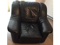 Free – Black Leather Armchair