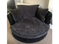 DFS sofa and cuddler chair