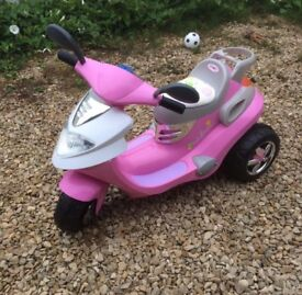 Pink Children electric scooter bike