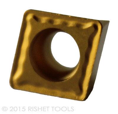 RISHET TOOLS CPMT 32.51 C5 Multi Layer TiN Coated Carbide Inserts (10 PCS)
