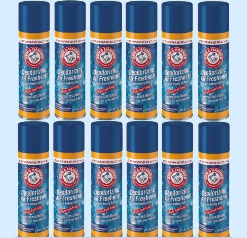 Arm & Hammer Deodorizing Air Freshener  (12 - 7 oz Spray Cans)  w/ Baking Soda