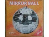 Brand New 30cm Mirrorball, unused, in original packaging