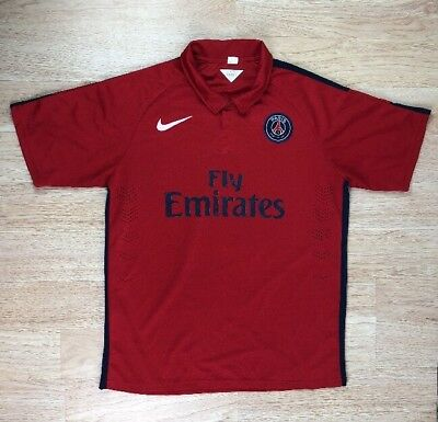 7451a301c3 Used Mens XXL Fly Emirates Chimiro Red Collar Nike 100% Polyester Soccer  Shirt
