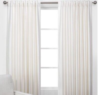 New Set Of 2  Z Gallerie Vienna Panels Curtains Champagne Ivory 54  X 108