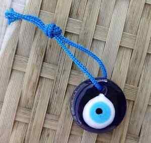 Hanging Lucky 3cm Glass Turkish Evil Eye Nazar Hamsa Charm Kabbalah Sun Catcher