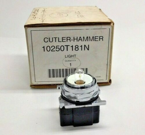 Cutler Hammer 10250T181N Light - no colored lense included - 10250T/91000T
