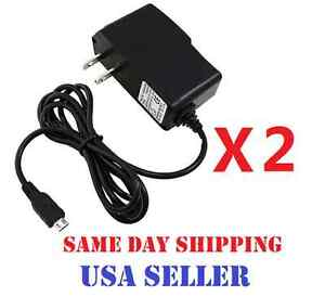 2x Micro USB Home Wall Chargers for Blackberry HTC LG Motorola Samsung Phones