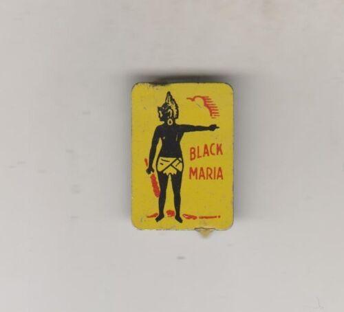 VINTAGE TIN LITHOGRAPHED TOBACCO TAG - BLACK MARIA - BLACK AMERICANA
