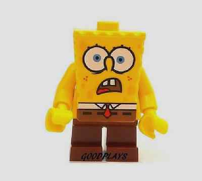 Lego Shocked spongebob minifigure  NEW Bob 4981 Chum Bucket minifig ()