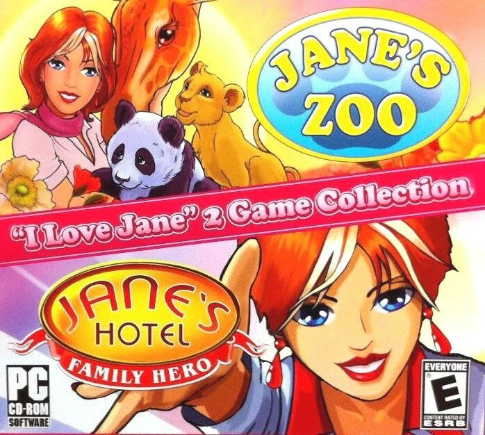 Computer Games - Jane's Hotel & Jane's Zoo PC Games Window 10 8 7 XP Computer time management NEW
