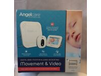 """Angelcare Digital Baby Movement, Video and Audio Monitor with 4.3"""" LCD Screen"""