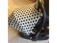 Car seat hood/canopy star pattern