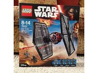 Lego Star Wars First Order TIE Fighter New