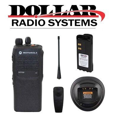 Refurbished Motorola Ht750 Uhf 403-470mhz 16ch 4w Business Radio Aah25rdc9aa3an