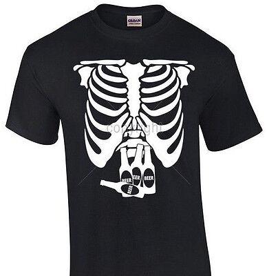 Pregnant X-Ray Skeleton T-shirt Beer Belly Halloween shirt funny party tee - Pregnant Halloween Shirt Skeleton