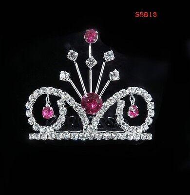Birthday Crown Girl Kids Rhinestone Crystal Tiara Bridal Headband Princess S8B13 - Tiara Birthday