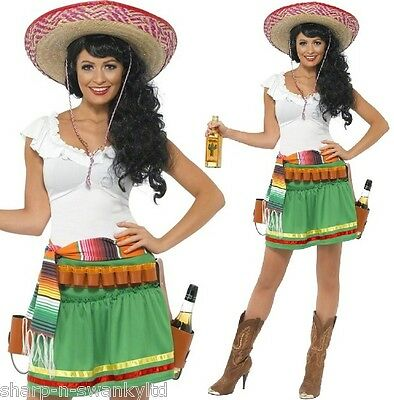 Ladies Sexy Mexican Tequila Shot Shooter Girl Fancy Dress Party Costume Outfit](Shot Girl Costume)