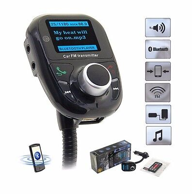 High Quality Bluetooth LCD Car Kit MP3 Player Audio FM Transmitter FM Modulator