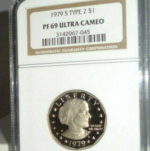1979 S Type 2 $1 Proof Susan B. Anthony NGC PF 69 Ultra Cameo Uncirculated Coin