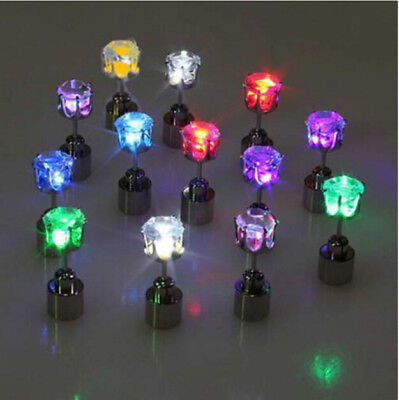 IC ICLOVER 1 Pc LED Earrings Glowing Light up Diamond Crown Ear Drop Pendant