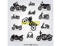 Motorbike wanted 250cc or above