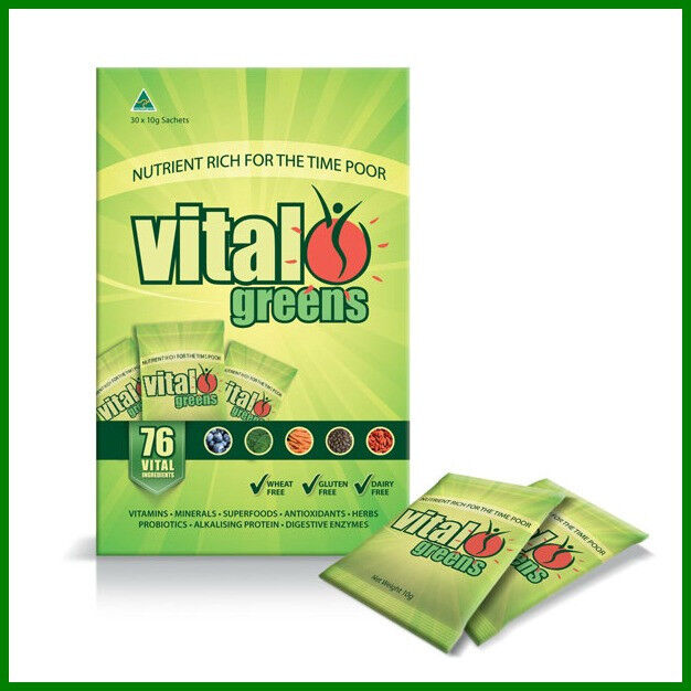 VITAL GREENS TRAVEL SACHETS 30 X 10G - BEST SELLING SUPERFOOD BLEND VITALGREENS