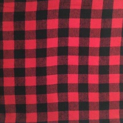 Ткань Red And Black Buffalo Plaid
