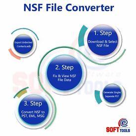 Lotus Notes NSF to PST converter