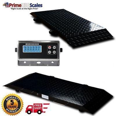 Multi Purpose Portable Floor Scale To Weigh Drum Vet Livestock 2000 X .5 Lb