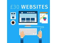 Starting £30 Websites - Website Design and Web Development