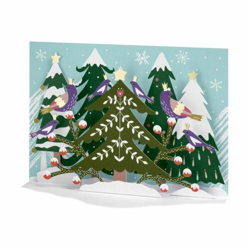 Moma Christmas Holiday Card -- Folk Forest