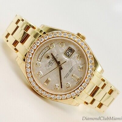 Rolex Day-Date Pearl-Master 18kt Gold  Masterpiece Meteorite Dial 18948