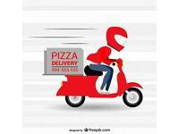 Delivery rider with his own bike