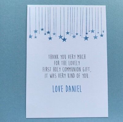 10 Personalised 1st First Holy Communion Thank You Cards - Boys - First Communion Invitations For Boys