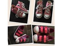 Girls converse trainers.