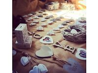 Beautiful rustic decor ideal for vintage style wedding