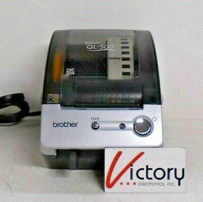 Used Brother Industries P-touch Ql-500 Thermal Label Printer 120v - 60hz 0.8a