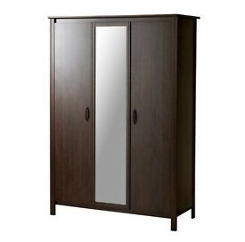 Brusali dark brown ikea wardrobe