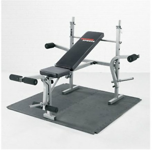 Bench with multiple attachments for $100