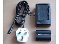 NIKON DSLR charger + battery (for D50, D70, D70s and D100)