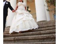French Designer Beautiful Wedding Dress from Paris size 10/12