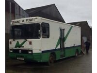 Lorry - currently stalled for horses/ponies/pony/horse. Ideal to convert to motorbikes, camper