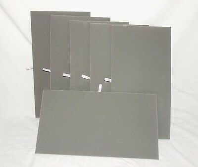Lot Of 6 Gray Velvet Flat Pads For Trays Or Display Boards 14 18 X 7 58.