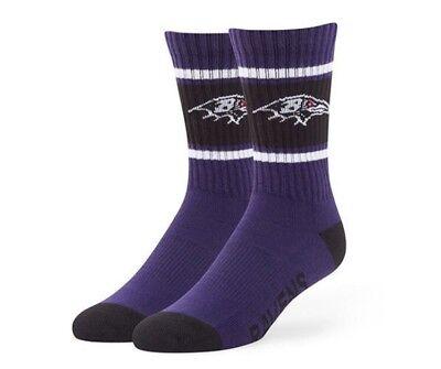 Baltimore Ravens Socks '47 Brand Duster Large Purple Men's 9-13 Women's 10-12 L Baltimore Ravens Womens Socks