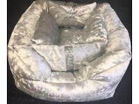 Crushed Velvet Dog Beds